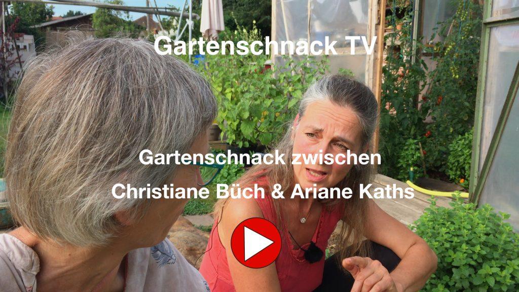 Gartenschnack zwischen Christiane und Ariane Kaths.