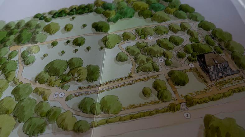 Goethes Gartenhaus-Plan